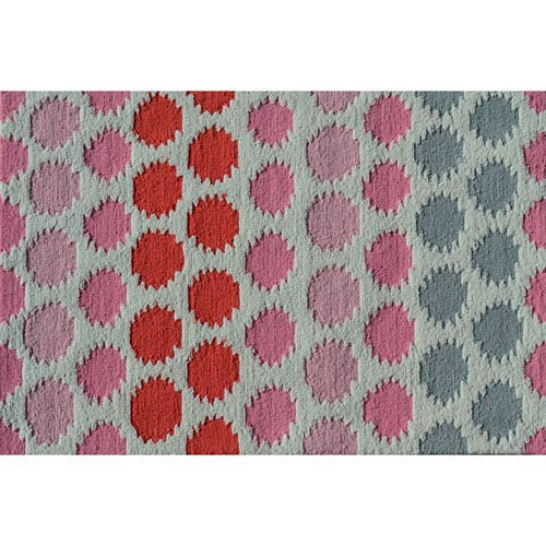 Ikat Dot Pink Rectangular: 2 Ft. 8-inch x 4 Ft. 8-inch Area Rug