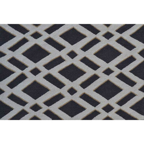 Diamonds Gray Rectangular: 2 Ft. 8-inch x 4 Ft. 8-inch Area Rug