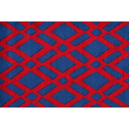 Diamonds Red Rectangular: 2 Ft. 8-inch x 4 Ft. 8-inch Area Rug
