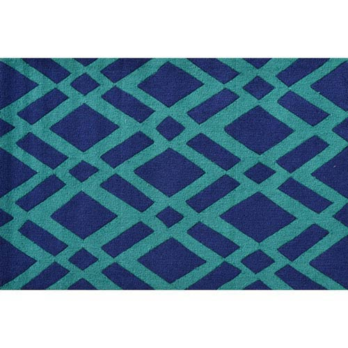 Diamonds Green Rectangular: 2 Ft. 8-inch x 4 Ft. 8-inch Area Rug