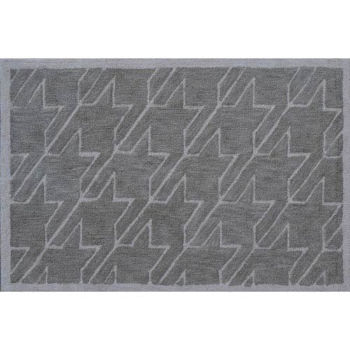 Fresh Houndstooth Tan Rectangular: 2 Ft. 8-inch x 4 Ft. 8-inch Area Rug
