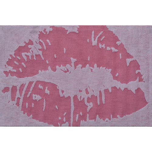 Kiss Pink Rectangular: 2 Ft. 8-inch x 4 Ft. 8-inch Area Rug