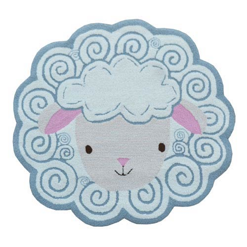 Sheep Shape Shag Gray Sheep head Shaped: 2 Ft. 5-inch x 3 Ft. Area Rug