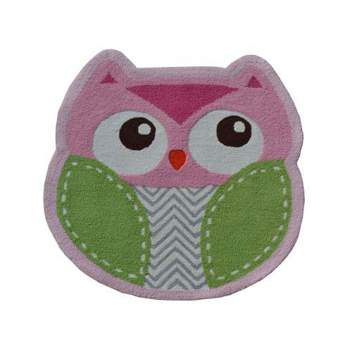 Shaped Owl Multicolor Owl Shaped: 3 Ft. x 3 Ft.  Area Rug