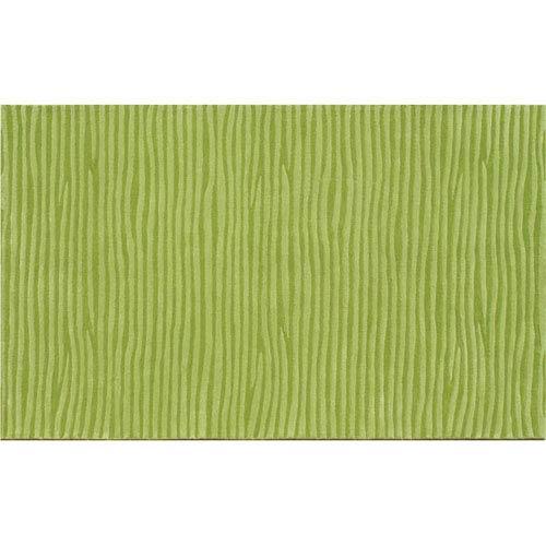 The Rug Market Ecconox Wavy Green Rectangular: 5 Ft. x 8 Ft.
