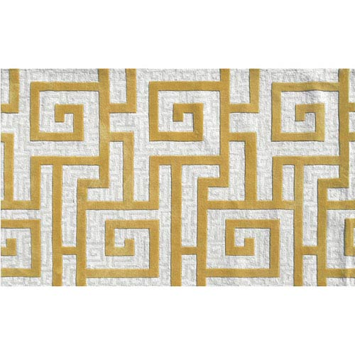 The Rug Market Ecconox Rome Gold Rectangular: 5 Ft. x 8 Ft.