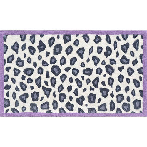 Cheatico Purple and Gray Rectangular: 4 Ft. 7 In. x 7 Ft. 7 In. Rug
