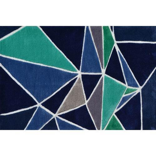 The Rug Market Fragment Blue Multicolor Rectangular: 2 Ft. 8-inch x 4 Ft. 8-inch Area Rug
