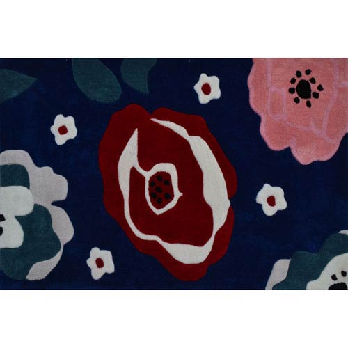 Annabelle Multicolor Rectangular: 2 Ft. 8-inch x 4 Ft. 8-inch Area Rug