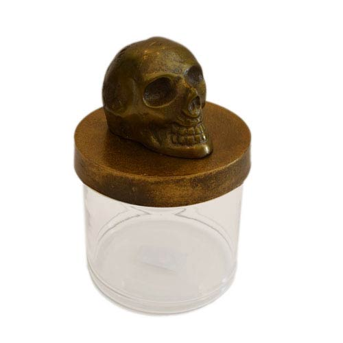 Rustic Skull Canister