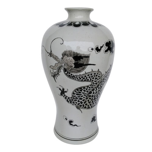 Dorete Black and White 24-Inch Urn Vase