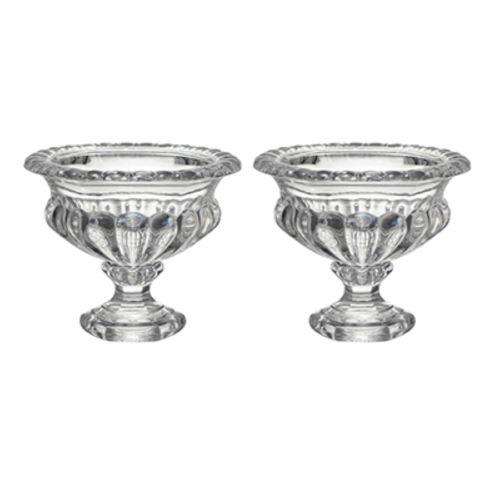 Omari Clear Crystal Display Bowl, Set of Two