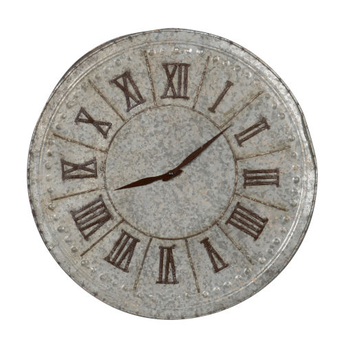 Antique Silver And Gold Roman Numeral Clock