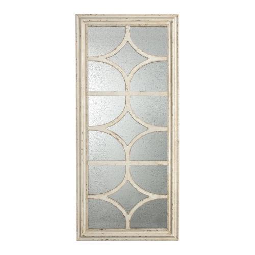 Glister Cream Paneled Mirror