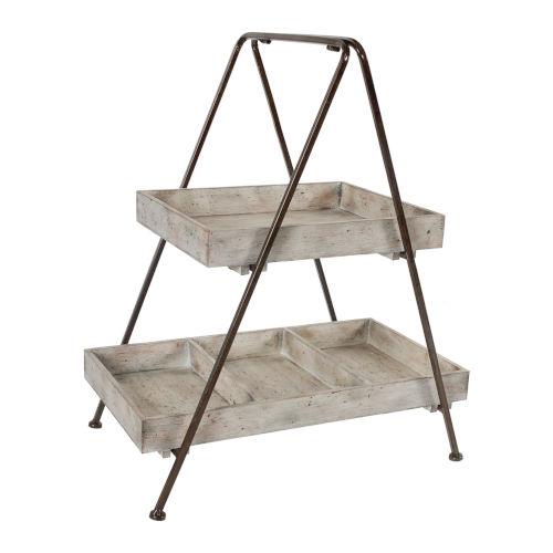 Xander Bronze And Whitewash Two-Tier Organizer Shelf