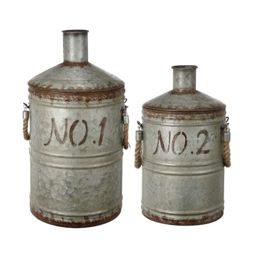 Patchin Silver And Rust Jar, Set of 2