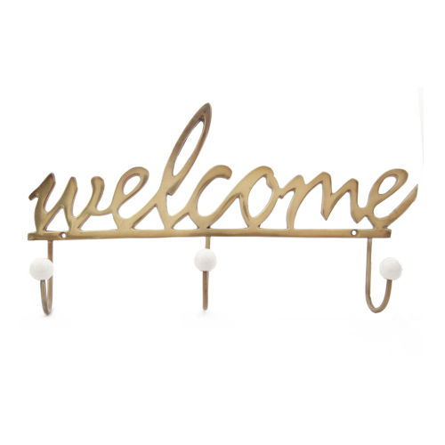 Gold Welcome Wall Hook
