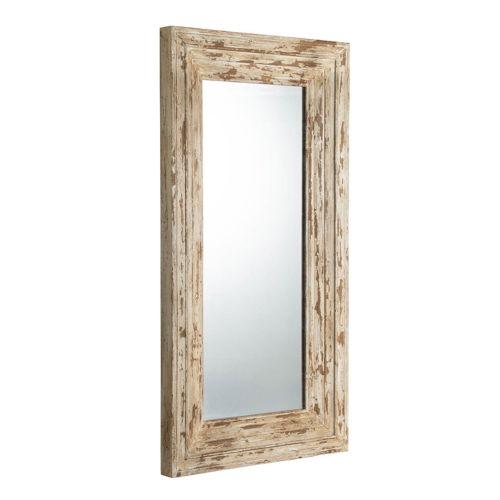 Colfax Antique White Floor Mirror