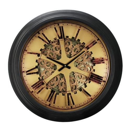 Black Gear Wall Clock