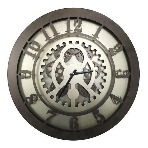 Dark Bronze Gear Wall Clock