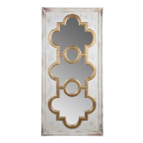 Henley Antique White And Gold Decorative Mirror