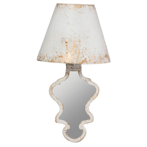 Swithun Antique White and Gold One-Light Wall Scomce