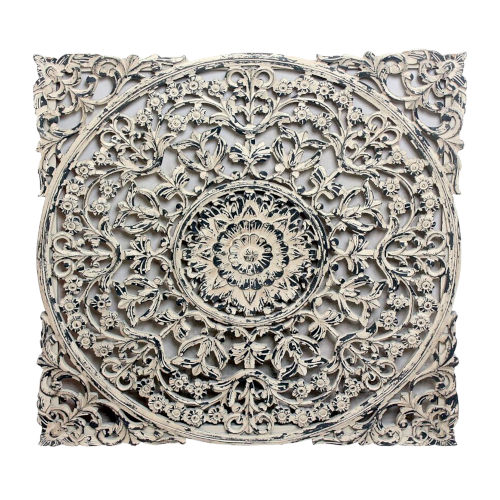 White And Black Carved Out Wall Decor