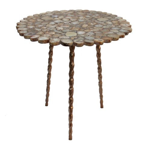 Bronze and Gold Agate Coffee Table