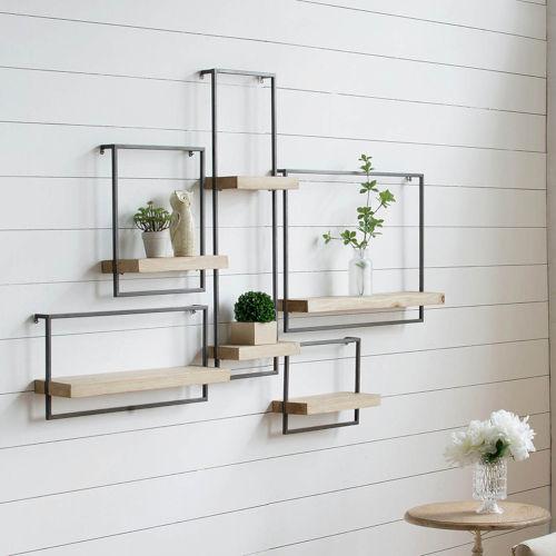 Black 18-Inch Wall Shelf
