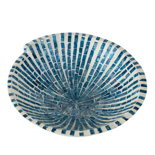 Pearl Blue Decorative Bowl