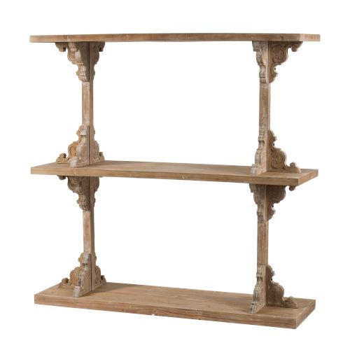 Brown 54-Inch Free Standing Shelf