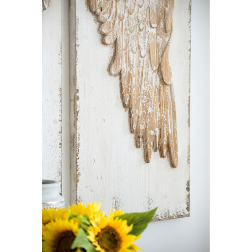 Brown Angel Wing  Decorative Wall Decor, set of 2