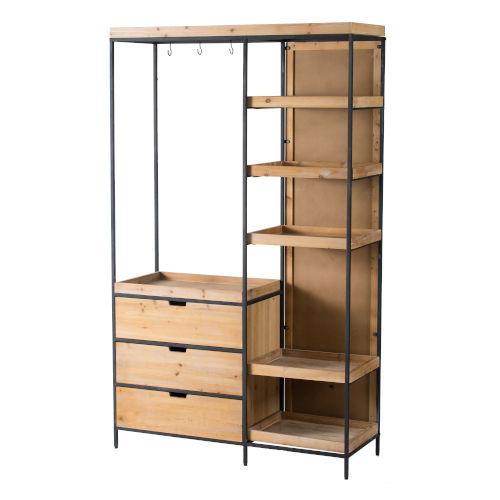 Black 47-Inch Free Standing Shelf