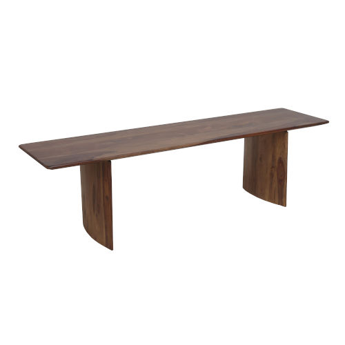 Indian Rosewood Panel Leg Dining Table