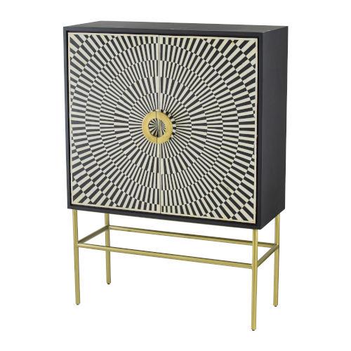 Modern Elegance Black 39-Inch Cabinet