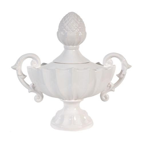 Nera White Porcelain Decorative Handled Jar