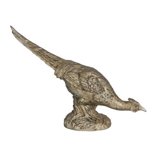 Arturo Bronze Grazing Pheasant Figurine