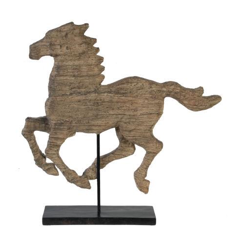 Natural Spirited Horse Figurine