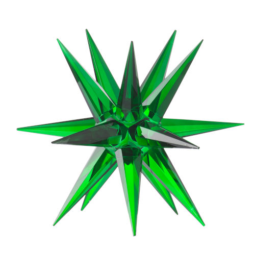 Green Karsta Star Glass Accent
