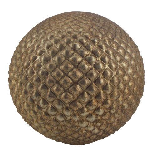 Iron Ore 12-Inch Modern Copper Decorative Ball