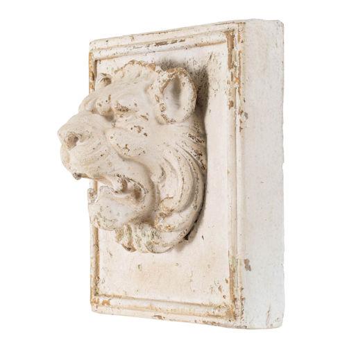 Antique Cream Lion's Head Wall Decor