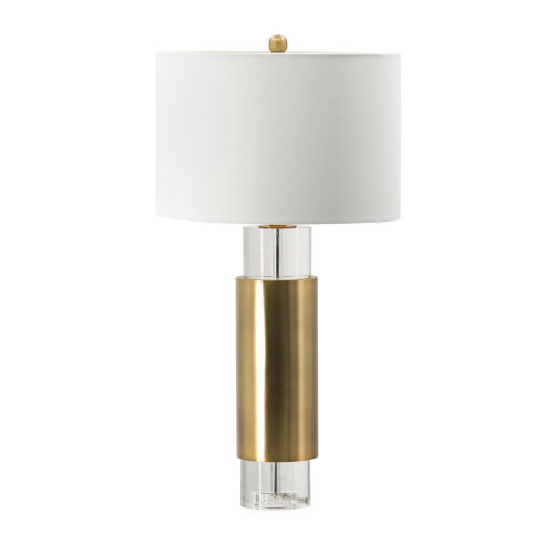 Brass and Clear One-Light Table Lamp