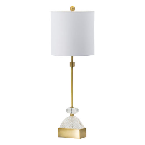 Gold and Clear One-Light Diamond Cut Crystal Buffet Lamp