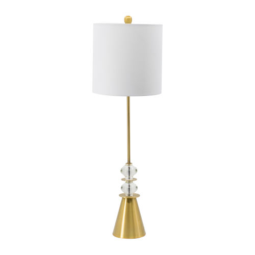 Gold and Clear One-Light Buffet Lamp