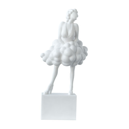 White Artificial Marble Stone Lady Figurine