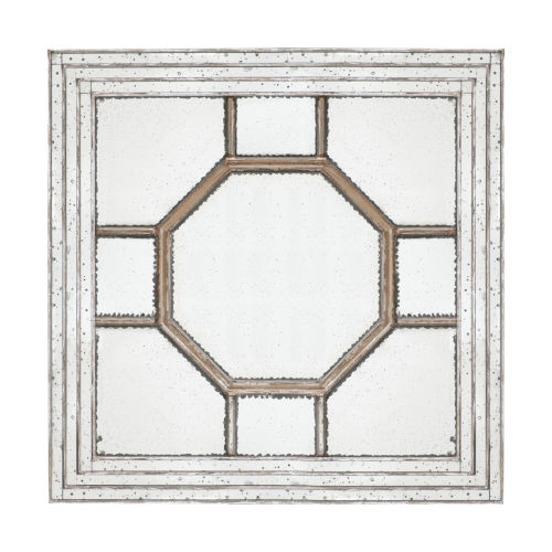 Irving Weathered Gold Decorative Square Mirror