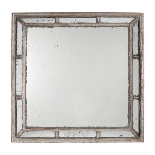 Irving Antique White Square Framed Mirror