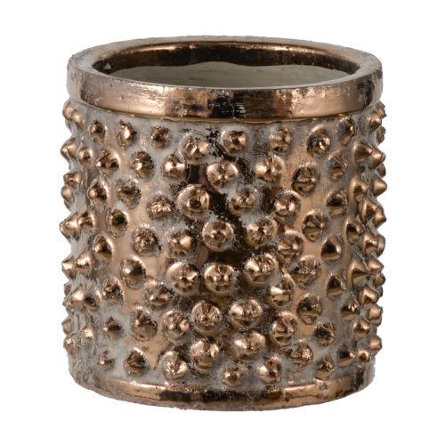 Metallic Bronze Tribal Chic Ceramic Planter
