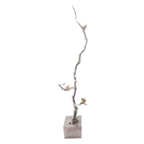 Silver And Gold Branch Decorative Object
