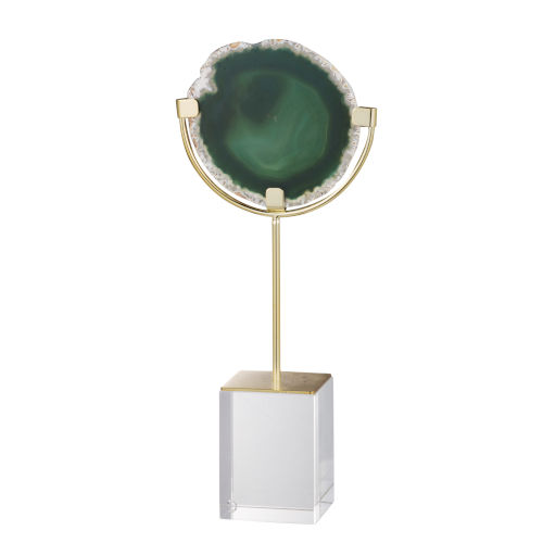 Green Floating Agate Decorative Object